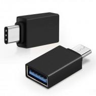 Adaptor USB 3.0 la type-c negru