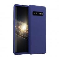 Husa 360 pentru Samsung S10 Plus - Folie din PET - Bleumarin