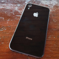 Husa Glass Logo Iphone XR, Black