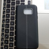 Husa silicon metal Samsung S7 edge - Negru