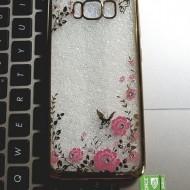 Husa silicon placata si pietricele Samsung S8