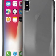 Husa silicon ultraslim iPhone X - fumuriu