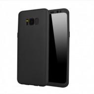 Husa 360 pentru Samsung S8 Plus - Folie din PET - Negru