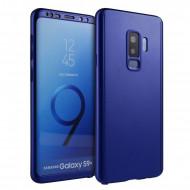 Husa 360 pentru Samsung S9 Plus - Folie din PET - Bleumarin