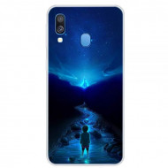 Husa Fusion Space Series Pattern TPU Phone Cover Samsung A40 – Style D
