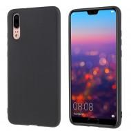 Husa silicon slim mat Huawei P20 - Negru