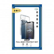 Set 3 in 1 husa / folie protectie / folie camera Iphone 11 (6.1)