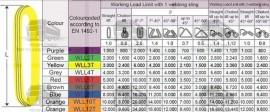 CHINGI DE RIDICARE CIRCULARE - 1 tona - 2 metri lungime