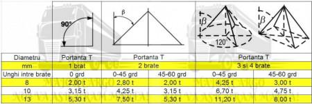 Lant de ridicare cu 1 brat - 2 metri - 8 mm