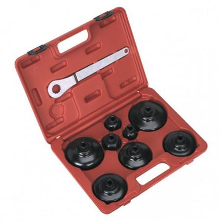 Trusa chei pentru capac filtru de ulei, 9 piese