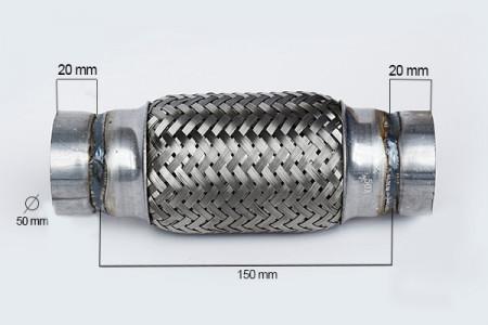 RACORD FLEXIBIL OUTER BRAID 50X150 MM