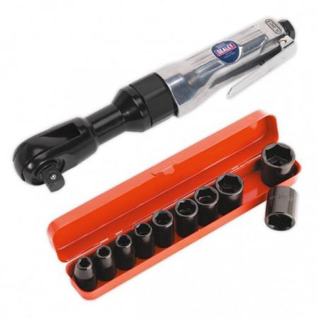 Set cheie pneumatica cu clichet + chei tubulare de impact