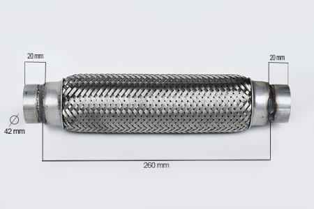RACORD FLEXIBIL INNER & OUTER 42X260 MM