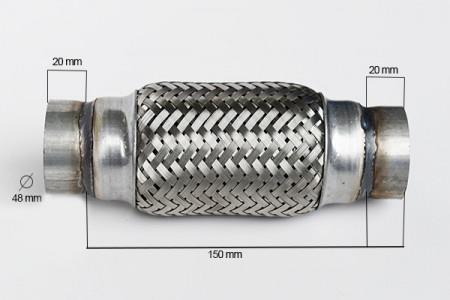 RACORD FLEXIBIL INNER & OUTER 48X150 MM