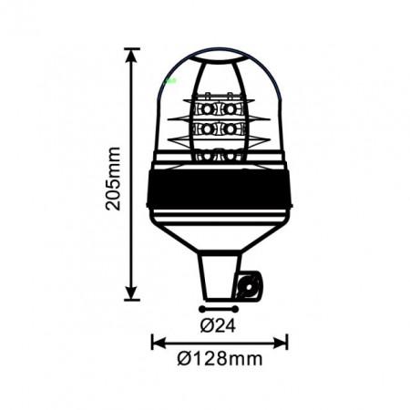 GIROFAR LED 18 LEDURI DE 3W - 12V/24V