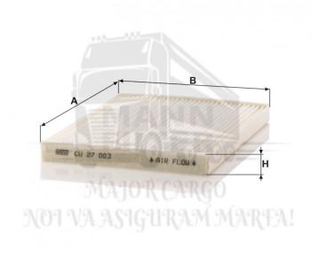 MANN CU 27 003 - FILTRU HABITACLU