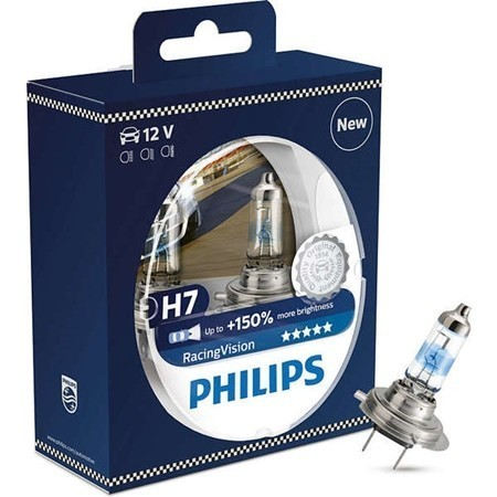 Set becuri H7 Philips Racing Vision 150%