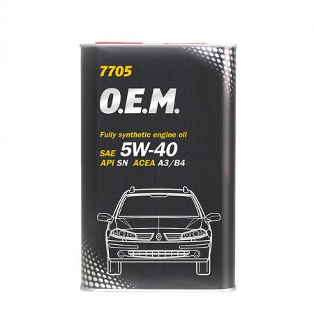 Ulei motor Mannol OEM Renault/Nissan 5W40 4+1 litri