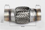 RACORD FLEXIBIL OUTER BRAID 45X100 MM