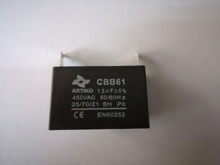 Condensator pornire ventilator 1,5 uF