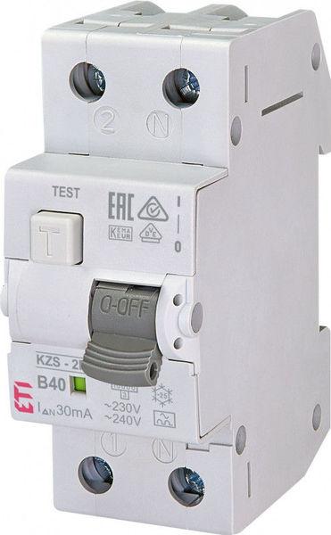 Siguranta automata diferentiala RCBO eti 40A,1+N TIP A, Curba B40, Capacitatea de rupere (kA) 10