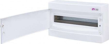 Tablou electric pe tencuiala (aplicat) 18 module ETI, usa alba