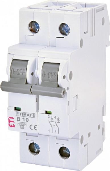 Siguranta automata dubla ETIMAT 6 2p B10, curba B ETI