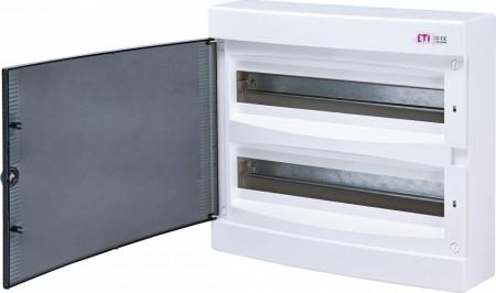Tablou electric pe tencuiala (aparent) 2x18 module, usa transparenta eti