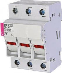 Separator pentru siguranțe fuzibile 32A 690V , EFD 10 3p LED,trifazat ETI