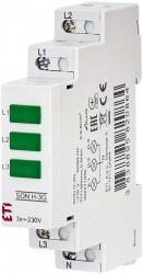 Lampa semnalizare pentru trifazat, tablou electric ETI