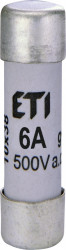 Siguranța fuzibila cilindrice CH10x38 gG 6A/500V eti
