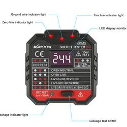 Tester priza profesional, cu afisaj si indicator LED, tester siguranta diferentiala 30mA