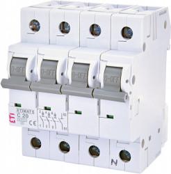 Siguranta automata trifazata ETIMAT 6 3p+N C20 ETI