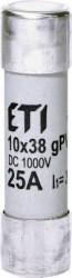 Siguranța fuzibila cilindrice CH10x38 gPV 25A/900V DC eti