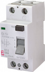Siguranta automata diferentiala RCCB EFI-2 AC 100/0.03 eti