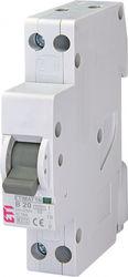 Siguranta automata ETI, 20A, 1P+N, curba declansare B20, curent de rupere 6kA