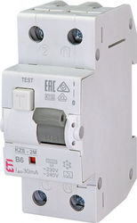 Siguranta automata diferentiala RCBO 10A,1+N TIP A, Curba B, Capacitatea de rupere (kA) 10