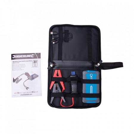 Car starter portabil, power bank, 12V, 400A, USB 2.1A, 6000 mAh, Silverline