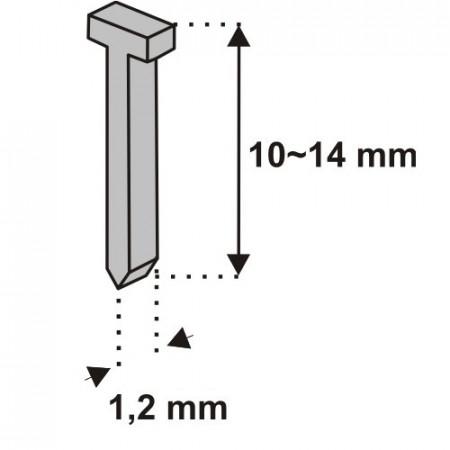 Cuie capsator 10mm , 1000 buc , Dedra
