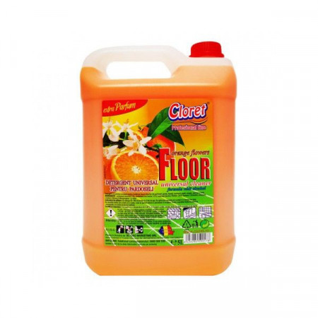 Detergent pardoseli, fara clatire, Portocale, 5L, Cloret
