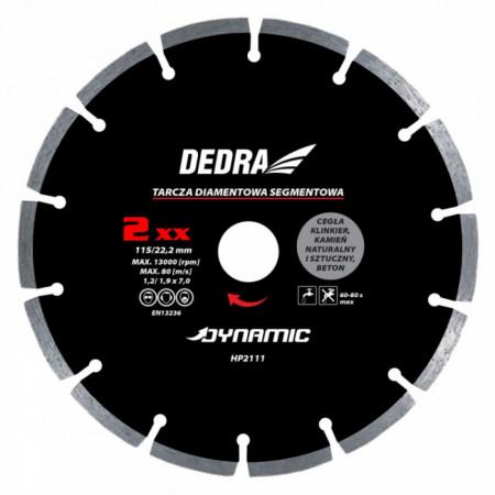 Disc diamantat , 250 x 25.4mm , taie caramida , piatra , beton , Dedra