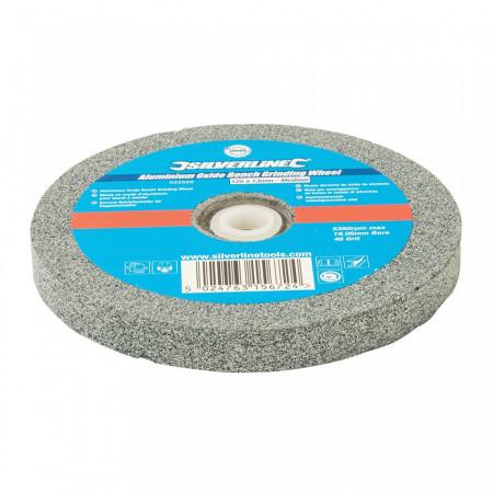 Disc piatra pentru slefuitor de banc, 125mm x 13mm, grit 46, mediu,Silverline