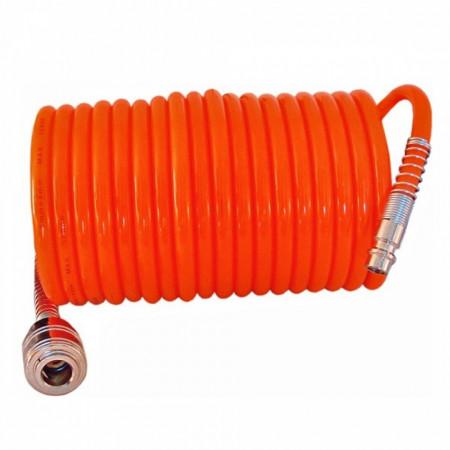 Furtun spiralat pentru compresor aer cu mufe ,5M , 10M , 15M , Pansam