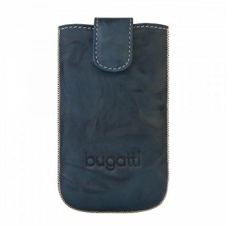 Husa de protectie universala , piele naturala , gri, 122 x 73mm, Bugatti