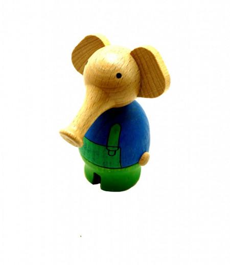 Jucarie figurina elefant din lemn natural , Mixmax