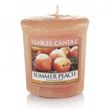 Lumanare parfumata Votive Peach Bellini, 49g, Yankee Candle