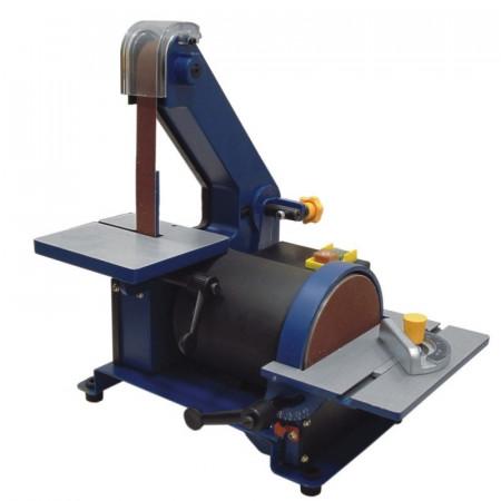 Masina de slefuit cu banc, disc abraziv 127 mm, 300W, banda 762x25mm, 2800 rpm, Dedra
