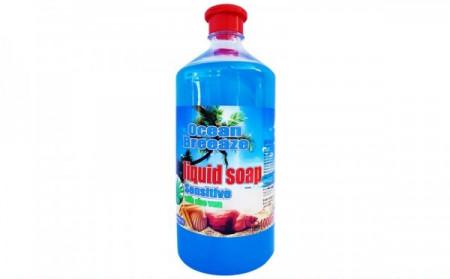 Sapun lichid, rezerva 1000ml, capac cu picurator, Ocean Breeze, extract Aloe Vera, PH - control, Cloret