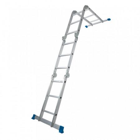 Scara cu platforma, 3.6m, 150kg, aluminiu anodizat, Silverline