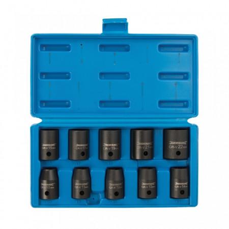 Set 10 tubulare impact , 1/2, otel forjat, 10-22mm, Silverline
